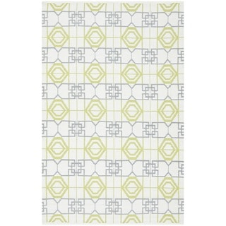 Thom Filicia Hand-woven Indoor/ Outdoor White/ Grey Rug (5' x 8')