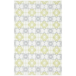 Thom Filicia Hand-woven Indoor/ Outdoor White/ Grey Rug (6' x 9')