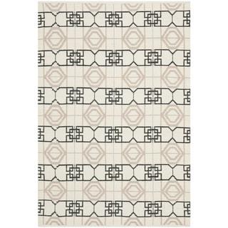 Thom Filicia Hand-woven Indoor/ Outdoor Black/ Beige Rug (3' x 5')