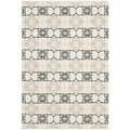 Thom Filicia Hand-woven Indoor/ Outdoor Black/ Beige Rug (3' x 5')