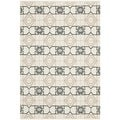 Thom Filicia Hand-woven Indoor/ Outdoor Black/ Beige Rug (4' x 6')