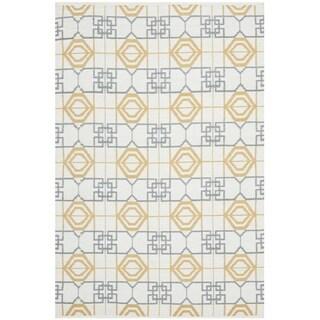 Thom Filicia Hand-woven Indoor/ Outdoor Beige/ Grey Rug (3' x 5')