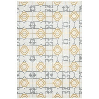 Thom Filicia Hand-woven Indoor/ Outdoor Beige/ Grey Rug (5' x 8')