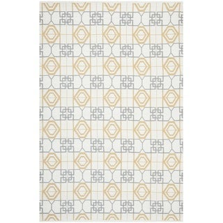 Thom Filicia Hand-woven Indoor/ Outdoor Beige/ Grey Rug (6' x 9')