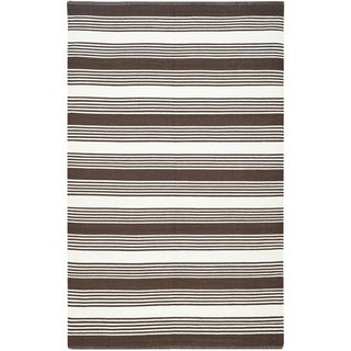Thom Filicia Hand-woven Indoor/ Outdoor Brown Rug (4' x 6')