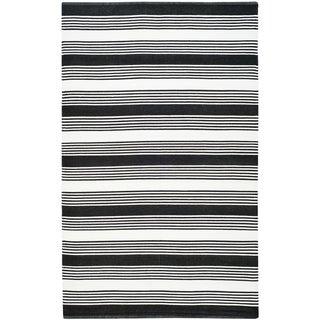 Thom Filicia Hand-woven Indoor/ Outdoor Black Rug (3' x 5')