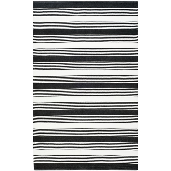 Thom Filicia Hand woven Indoor Outdoor Black Rug 4 x 6