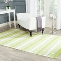 Thom Filicia Hand-woven Indoor/ Outdoor Green Rug (4' x 6')