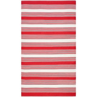 Thom Filicia Hand-woven Indoor/ Outdoor Red Rug (8' x 10')