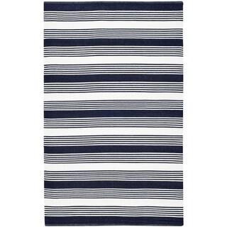 Thom Filicia Hand-woven Indoor/ Outdoor Navy Rug (4' x 6')