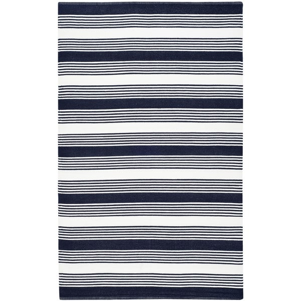 Thom Filicia Hand woven Indoor Outdoor Navy Rug 4 x 6