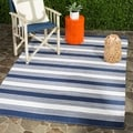 Thom Filicia Hand-woven Indoor/ Outdoor Navy Rug (8&#39; x 10&#39;)