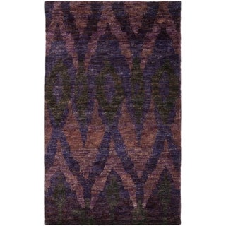 Thom Filicia Hand-knotted Midnight Violet Hemp Rug (4' x 6')