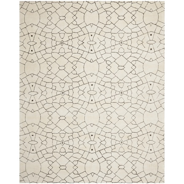 Thom Filicia Handmade Cream/ Brown New Zealand Wool Rug (8' x 10')