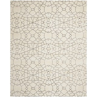 Thom Filicia Handmade Cream/ Brown New Zealand Wool Rug (9' x 12')