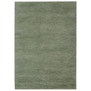 Safavieh Hand-made Tribeca Grey/ Green Wool Shag Rug (6' x 9')