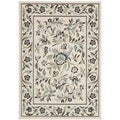 Safavieh Veranda Piled Indoor/ Outdoor Cream/ Green Rug (4' x 5'7)