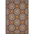 Safavieh Veranda Piled Indoor/Outdoor Chocolate/Terracotta Geometric Rug (4' x 5'7)