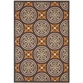 "Contemporary Safavieh Veranda Piled Indoor/Outdoor Chocolate/Terracotta Rug (5'3"" x 7'7"")"