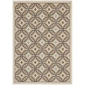 Safavieh Veranda Piled Indoor/ Outdoor Cream/ Chocolate Rug (8' x 11'2)