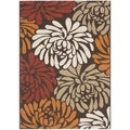 Safavieh Veranda Piled Indoor/ Outdoor Chocolate/ Terracotta Rug (5'3 x 7'7)