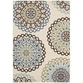 Safavieh Veranda Piled Indoor/ Outdoor Cream/ Terracotta Rug (6'7 x 9'6)