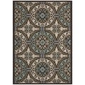 Safavieh Veranda Piled Indoor/ Outdoor Chocolate/ Cream Rug (8' x 11'2)