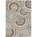 "Safavieh Veranda Piled Indoor/Outdoor Cream/Blue Area Rug (6'7"" x 9'6"")"