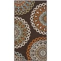 Safavieh Veranda Piled Indoor/ Outdoor Chocolate/ Terracotta Area Rug (2'7 x 5')