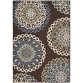 Safavieh Veranda Piled Indoor/ Outdoor Chocolate/ Blue Rug (4' x 5'7)