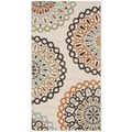 Safavieh Veranda Piled Indoor/ Outdoor Cream/ Terracotta Rug (2'7 x 5')