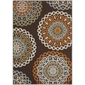 "Safavieh Veranda Piled Indoor/Outdoor Chocolate/Terracotta Area Rug (5'3"" x 7'7"")"