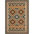 Safavieh Veranda Piled Indoor/ Outdoor Green/ Terracotta Rug (4' x 5'7)