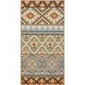Safavieh Veranda Piled Indoor/ Outdoor Green/ Terracotta Rug (2'7 x 5')