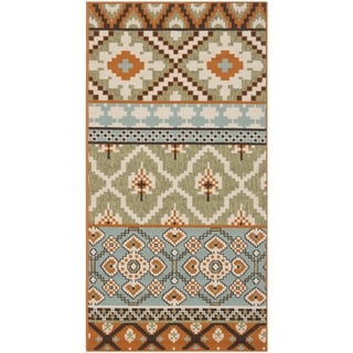 Safavieh Veranda Piled Indoor/ Outdoor Green/ Terracotta Area Rug (2'7 x 5')