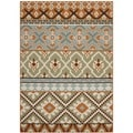 Safavieh Veranda Piled Indoor/ Outdoor Green/ Terracotta Area Rug (4' x 5'7)
