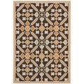 "Modern Safavieh Veranda Piled Indoor/Outdoor Chocolate/Terracotta Rug (5'3"" x 7'7"")"