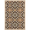 "Safavieh Veranda Piled Indoor/Outdoor Chocolate/Terracotta Polypropylene Rug (6'7"" x 9'6"")"