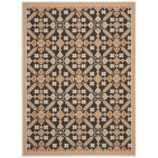 Safavieh Veranda Piled Indoor/Outdoor Chocolate/Terracotta Area Rug (8' x 11'2