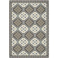 Safavieh Veranda Piled Indoor/ Outdoor Blue/ Chocolate Rug (4' x 5'7)