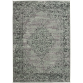 Safavieh Vintage Light Blue Viscose Rug (4' x 5'7)