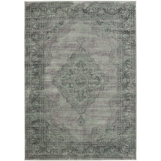 Safavieh Vintage Light Blue Viscose Rug (5'3 x 7'6)