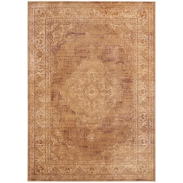 Safavieh Vintage Brown Viscose Rug (8' x 11'2)