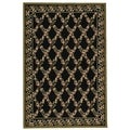 "Safavieh Hand-Hooked Wilton Black/Green New Zealand Wool Area Rug (3'9"" x 5'9"")"
