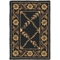 Safavieh Hand-hooked Wilton Black New Zealand Wool Rug (1'8 x 2'6)