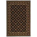 Safavieh Hand-hooked Wilton Black New Zealand Wool Rug (7'9 x 9'9)