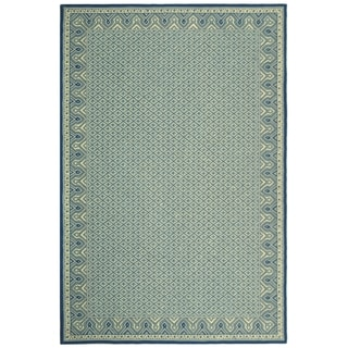Safavieh Hand-hooked Wilton Ivory/ Light Blue New Zealand Wool Rug (8'6 x 11'6)
