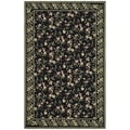 Safavieh Hand-hooked Wilton Black/ Green New Zealand Wool Rug (5'6 x 8'6)