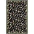 Safavieh Hand-hooked Wilton Black/ Green New Zealand Wool Rug (8'6 x 11'6)