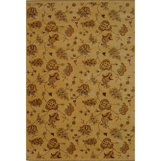 Safavieh Hand-knotted Agra Beige Wool Rug (9' x 12')